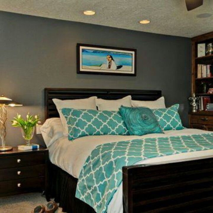 Best Gray Walls Teal Accent Yes Like This Combo Now To With Pictures