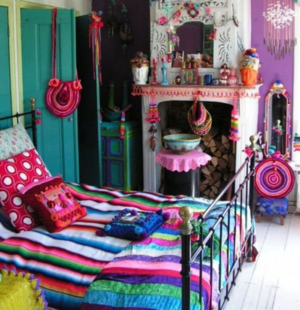 Best Colorful Eclectic Style Bedroom Design With Rainbow Themed With Pictures