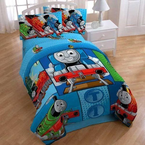 Best Thomas Train Railroad 4Pc Twin Comforter Sheets Bed Set By With Pictures