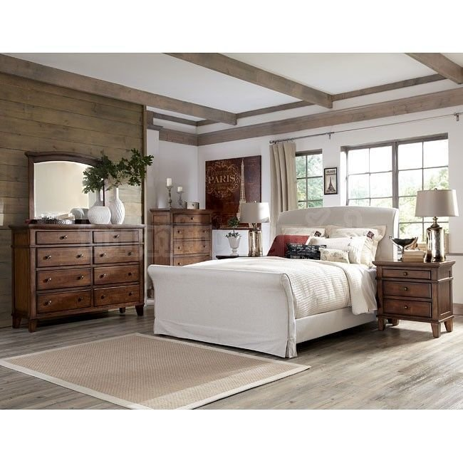 Best Burkesville Bedroom Set W Upholstered Bed Rustic With Pictures