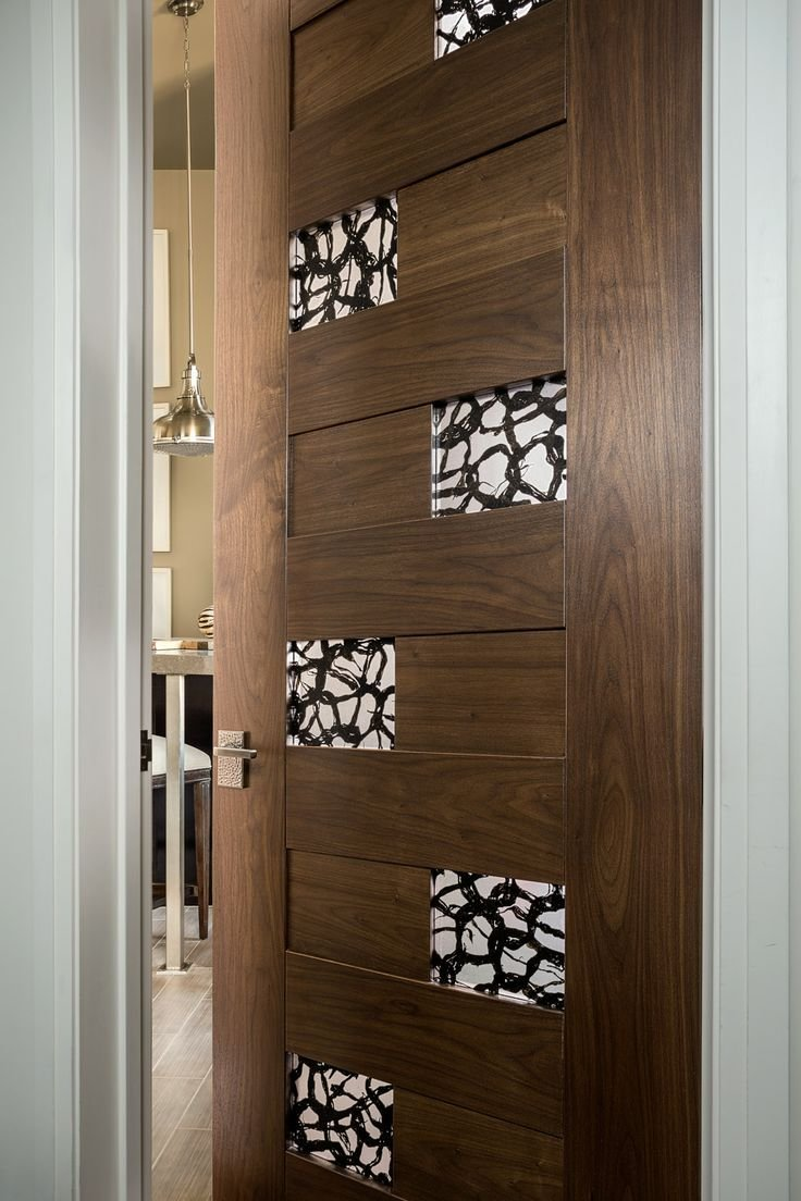 Best Trustile Modern Door Collection Tm13420 In Walnut With 3Form Resin And 1 8 Radius Reveal With Pictures