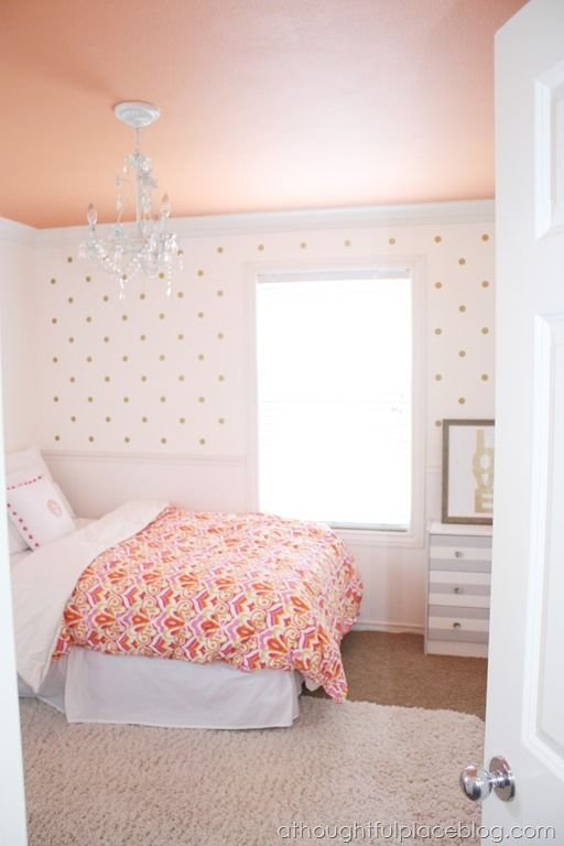 Best Girly Big Girl Room Wall Decal Polka Dots Painted With Pictures