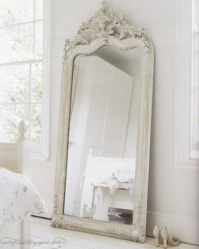 Best Large White Shabby Chic Mirror Decor Items To Die For With Pictures
