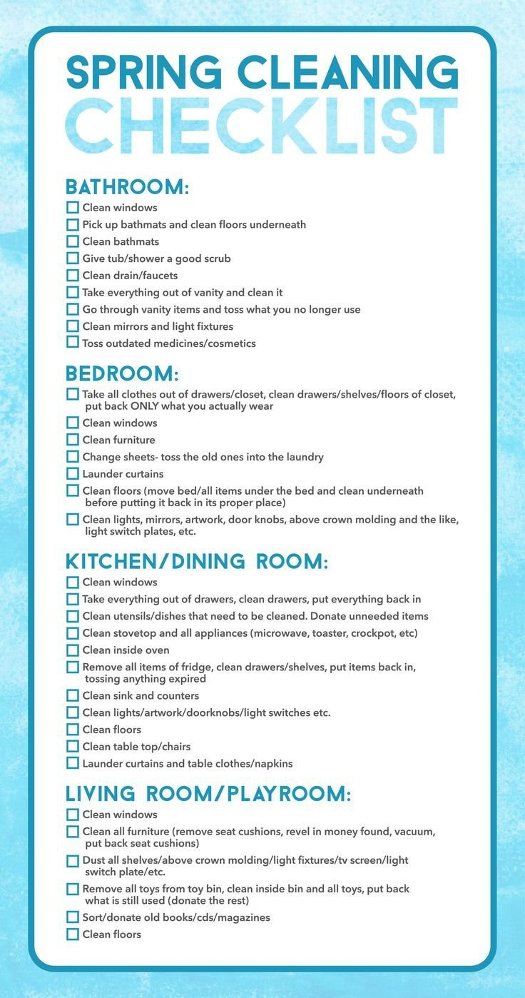 Best Spring Cleaning Checklist Bathroom Clean Windows Pick Up With Pictures