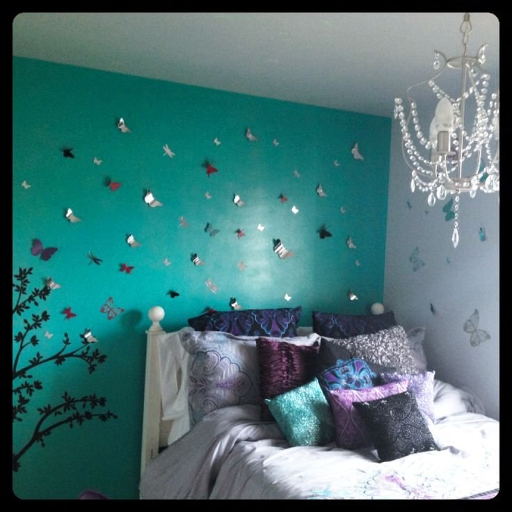 Best Butterflies My 13 Year Olds Room Pop Of Color And A With Pictures