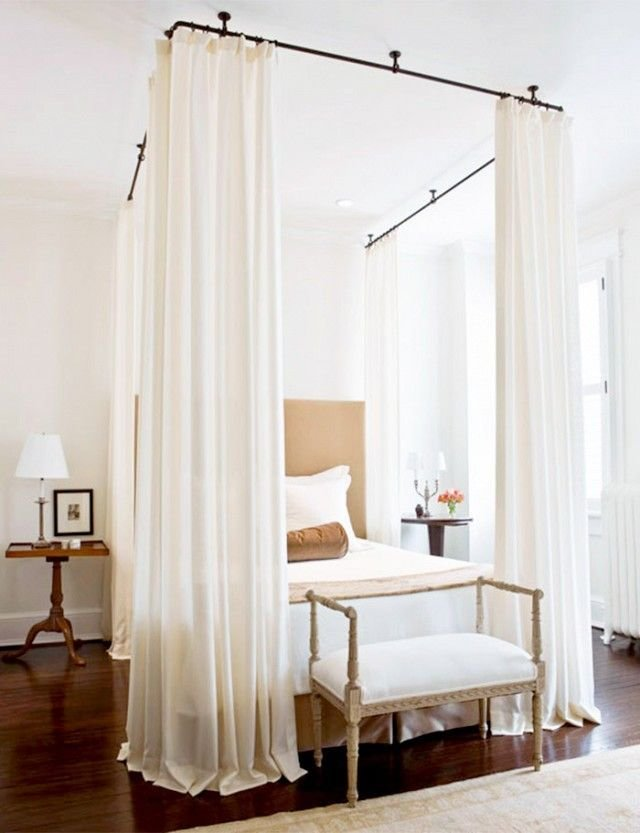 Best 1000 Ideas About Curtains Around Bed On Pinterest Serene Bedroom Dark Curtains And Beds With Pictures