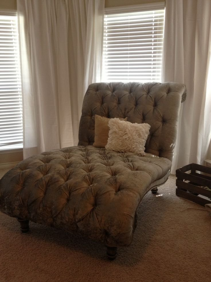 Best Tufted Double Chaise Lounge Chair In Our Master Bedroom With Pictures