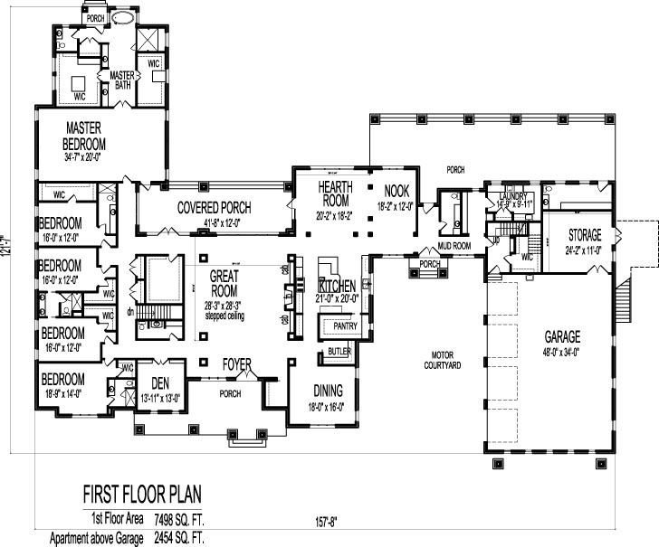 Best 6 Bedroom Bungalow 10000 Sf 1 Storey House Plans Sioux With Pictures