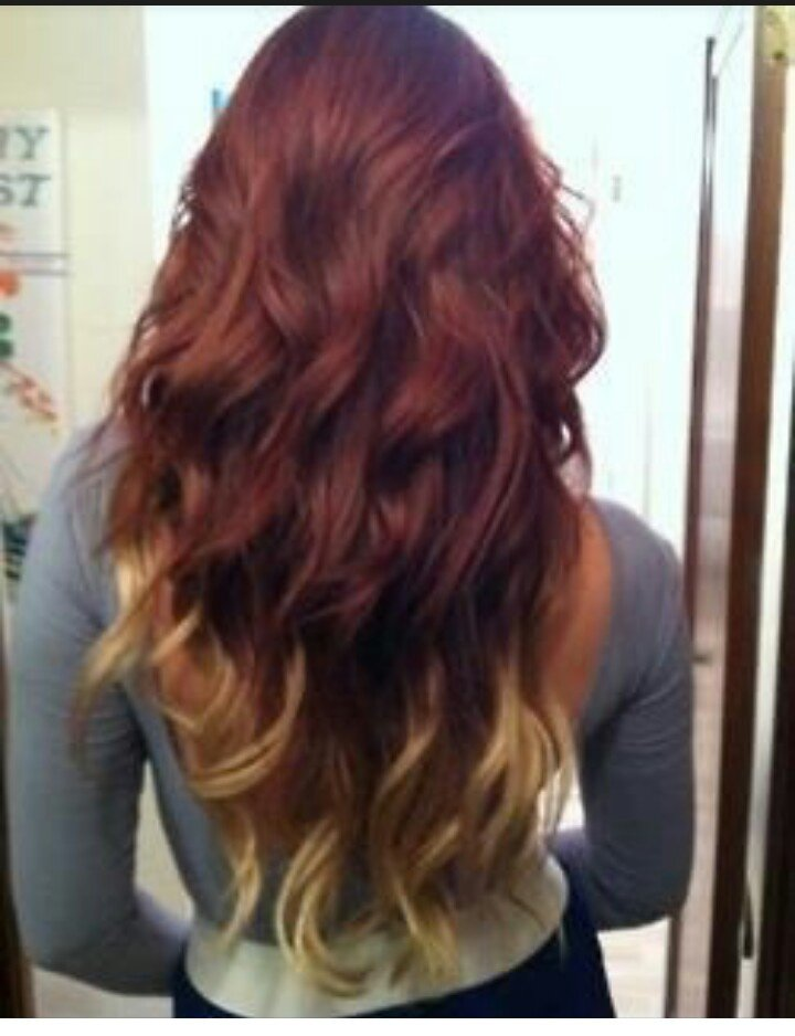 Free Red Asian Hair With Blonde Ombre Dyeing For Color Wallpaper