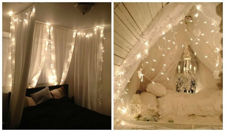Best 23 Amazing Canopies With String Lights Ideas Bedrooms With Pictures