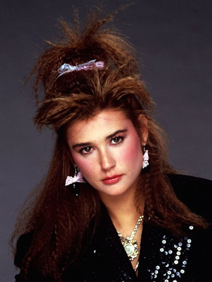 Free Demi Moore With Crimped Hair C 1985 1980S Pinterest Wallpaper