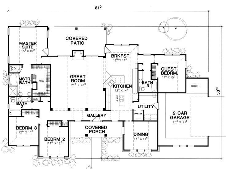 Best Floor Plan Single Story This Is It Extend The Dining With Pictures