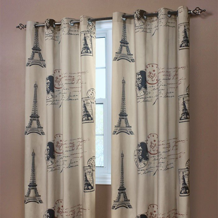 Best Paris Curtain Panel As An Entire Wall Hanging Joss With Pictures