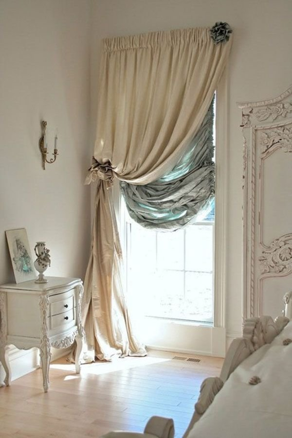 Best Bedroom Window Double Curtain Rods One Along The Top One Along The Side Of The Window Frame With Pictures