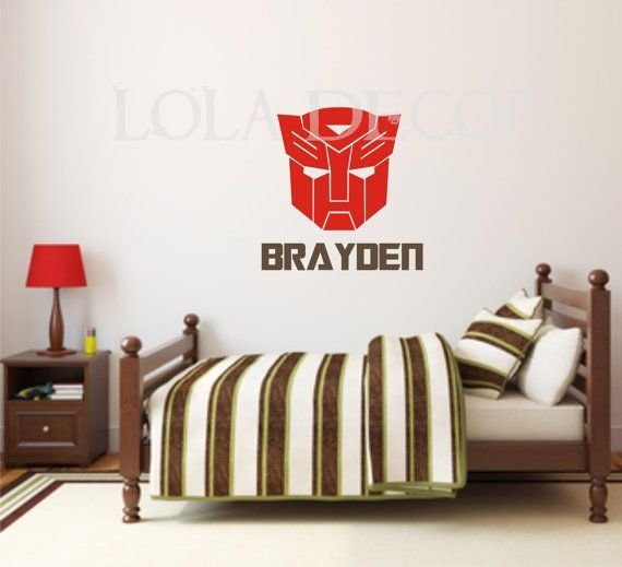 Best Transformer Decal Boy Bedroom Optimus Prime With Pictures