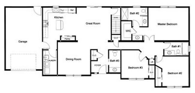 Best 3 Bedroom 2 ½ Bath Open Modular Floor Plan Created And Designed By Our Customer For A With Pictures