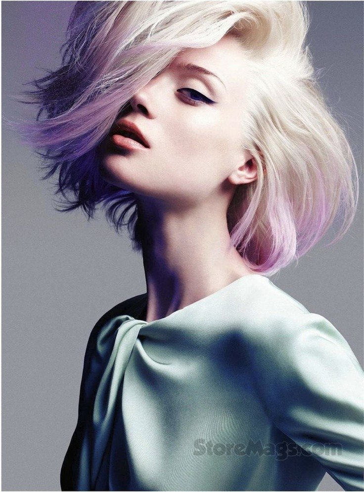 Free Sophisticated Rocker Dip Dyed Lavender Blonde Pastel Hair Wallpaper