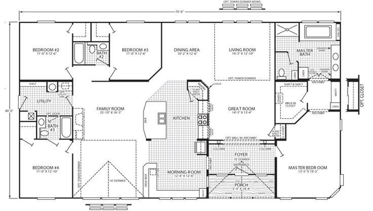 Best Triple Wide Floor Plans House Outdoor Decor Pinterest With Pictures