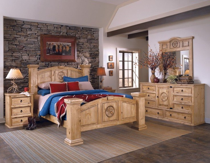 Best Texas Style 6Pc Bedroom Set Made With 100 Solid Ponderosa With Pictures