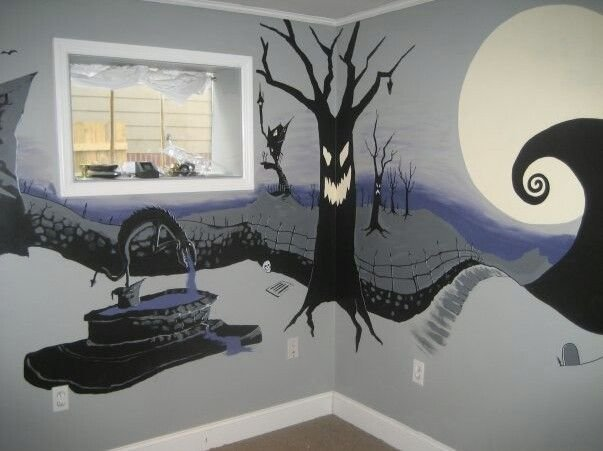 Best Nightmare Before Christmas Bedroom Mural Humble Abode With Pictures
