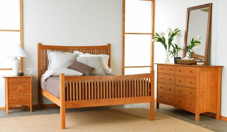Best Modern Shaker Bedroom Furniture Set Shown In Natural With Pictures