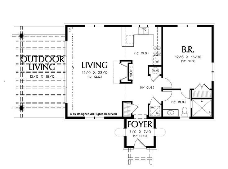 Best Simple One Bedroom House Plans Home Plans Homepw02510 With Pictures