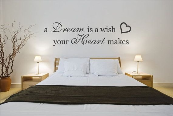Best Wall Decal Bedroom Quote Sticker A Dream Is A Wish Your With Pictures