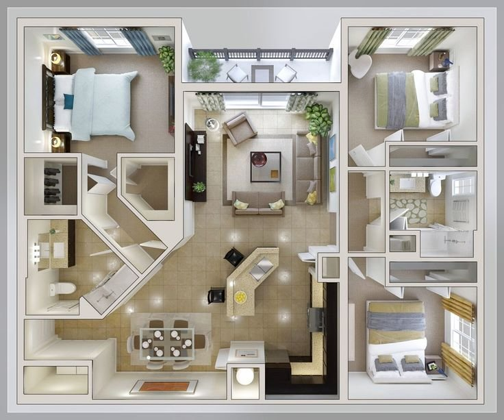 Best Bedroom Layout Ideas Small 3 Bedroom House Plan Home With Pictures