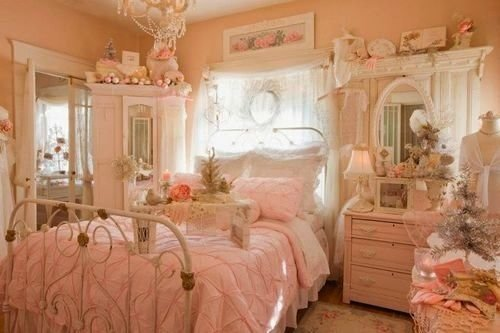 Best Victorian Bedroom Ultra Feminine Rosy Peach Pink Decor With Pictures