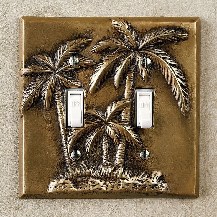 Best Palm Tree Bedroom Decor Palm Tree Double Switch Antique With Pictures