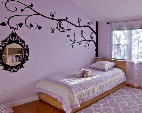 Best Bedroom Wonderful Purple Teenage Room For Girls With Purple Color For Bedding Rugs And Cushion With Pictures