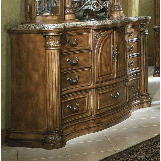 Best Aico Monte Carlo Bedroom Set Classic Pecan For The With Pictures