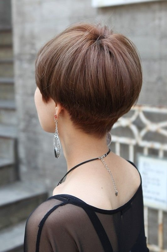 Free Back View Of Cute Short Japanese Haircut Back View Of Wallpaper