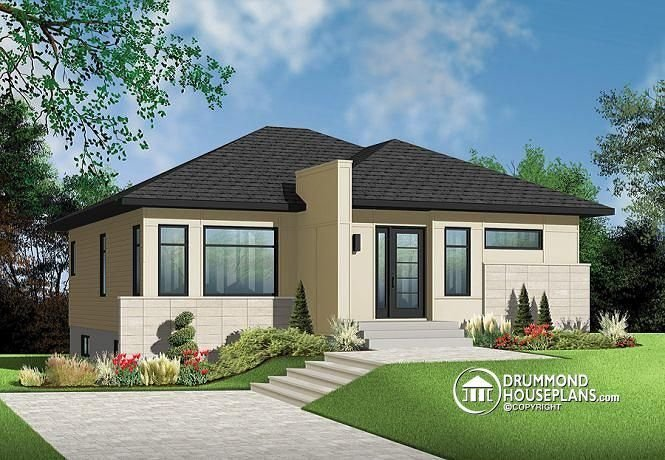 Best Very Popular Contemporary Bungalow With 2 Bedrooms Curb Appeal And Very Low Construction With Pictures