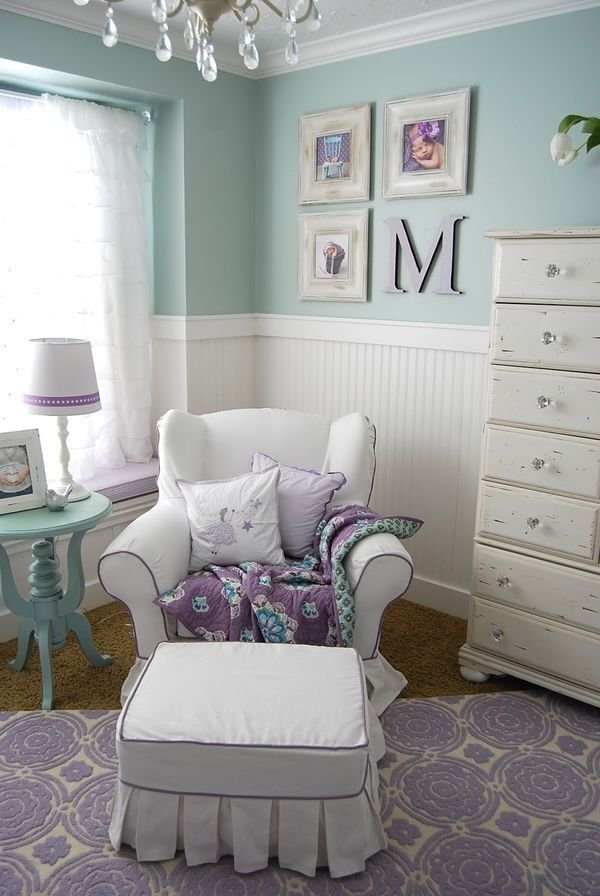Best Mint And Purple Color Combo For Baby Girl Nursery With Pictures