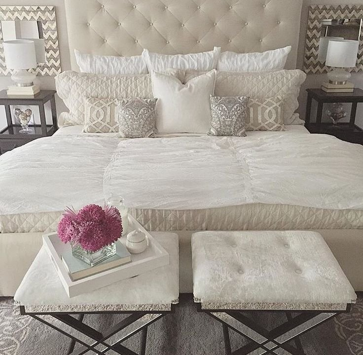 Best Soft White And Cream Bedroom Love Stools At Foot Of Bed With Pictures