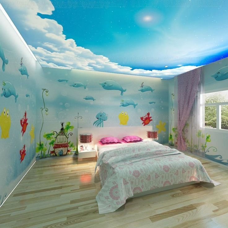 Best Free Shipping 3D Wallpaper Dolphin Cartoon Child Real With Pictures
