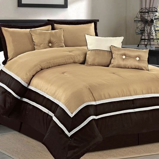 Best Parkview Taupe 7 Piece Comforter Set 120 00 My Room Pinterest Taupe Black Friday And Bedding With Pictures