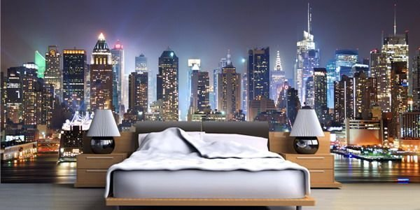 Best New York Wallpaper Murals Decor On Bedroom Ideas Theme With Pictures