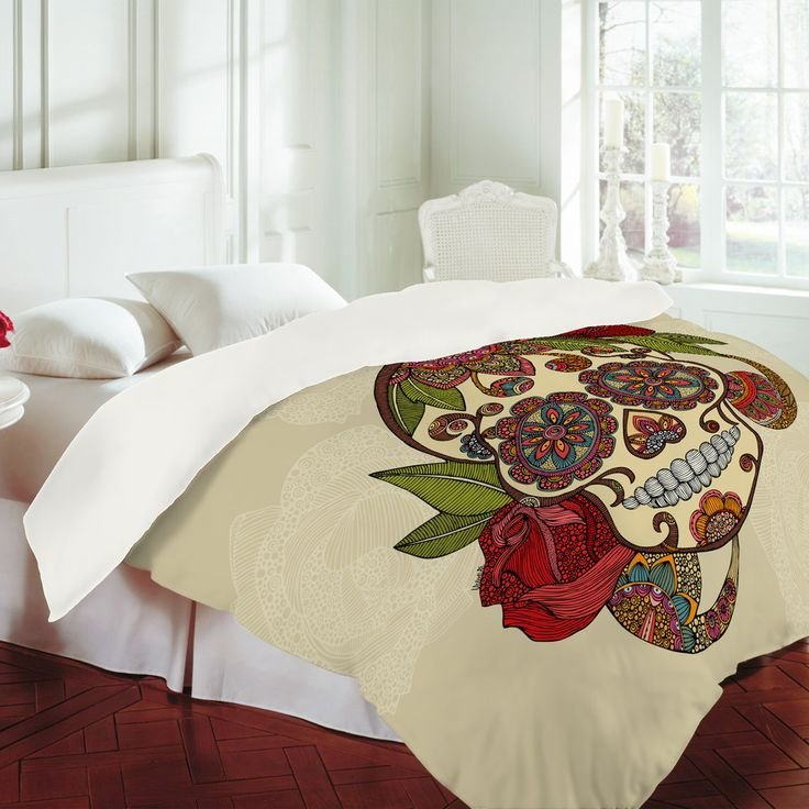 Best Valentina Ramos Sugar Skull Duvet Cover Design Home With Pictures