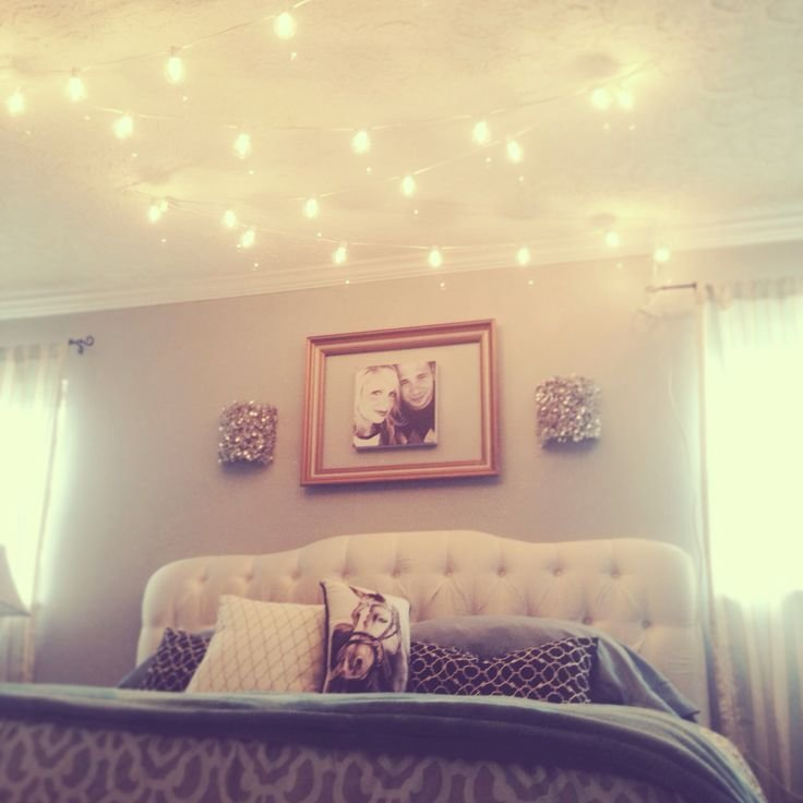 Best Break All The Rules And Hang Globe String Lights Above The Bed Instant Mood Lighting And With Pictures