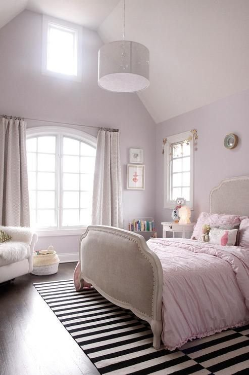 Best Light Pink Girl S Bedroom Features A Light Pink Walls With Pictures