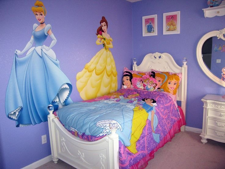 Best Disney Princess Wall Decals Disney Princess Bedroom With Pictures