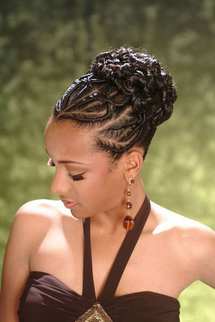 Free African American French Braid Updo Hairstyles Hair Wallpaper