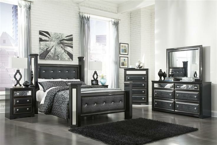 Best King Master Bedroom Sets Black Faux Leather Alligator Queen King Master Bedroom Poster Bed With Pictures