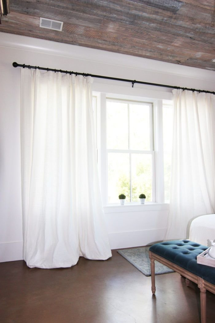 Best Get The Look White Linen Drapes Curtain Rods Get The With Pictures
