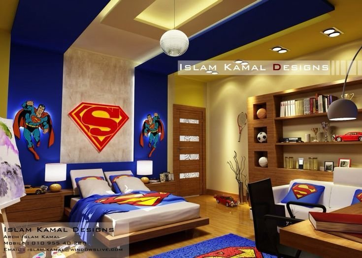Best Boy Room For Pre Teens 5 12Yrs To Call All Super Hero's With Pictures