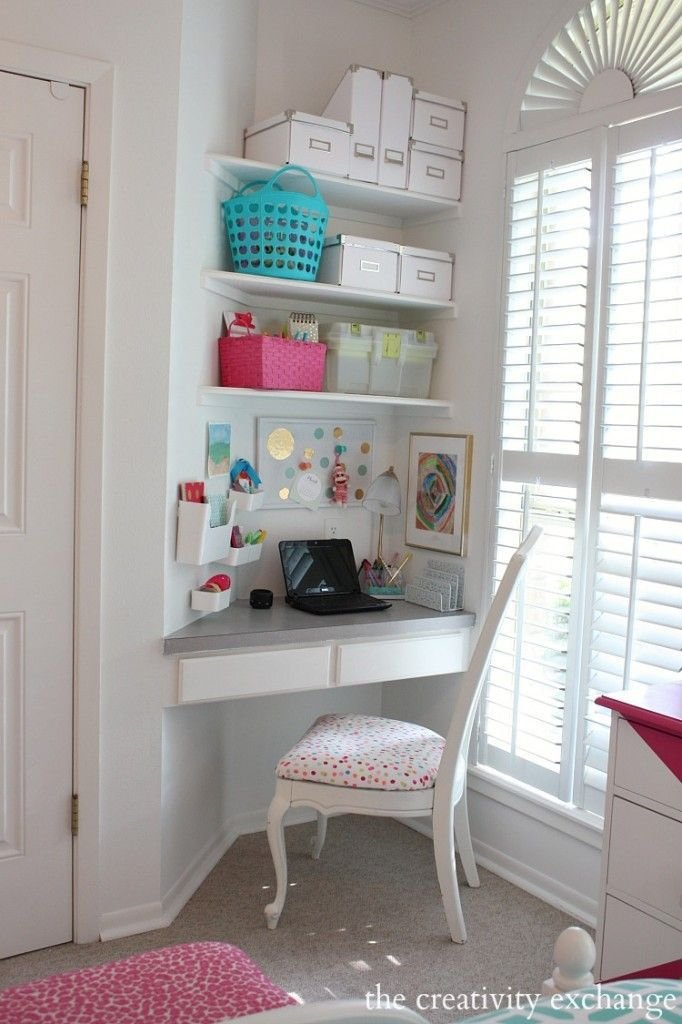 Best Little Girl S Room Revamped To Bright And Bold Tween Room Creative Desk Nook And Creativity With Pictures