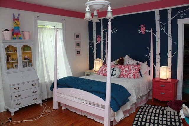 Best 49 Best Images About Navy Blue Pink Bedroom Ideas On With Pictures