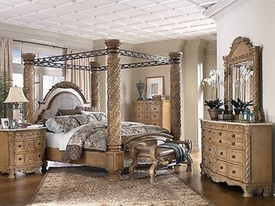 Best Ashley Furniture South Shore King Poster Canopy Bed Dresser Mirror Millenium Dresser Mirror With Pictures
